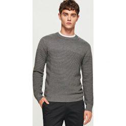 Prążkowany sweter - Szary. Niebieskie swetry klasyczne męskie marki Reserved. Za 119,99 zł.