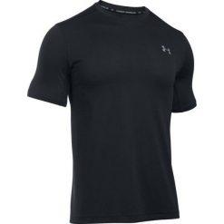 Under Armour Koszulka męska Raid MicroTread SS Tee czarna r. S (1281261-001). Szare koszulki sportowe męskie marki Under Armour, z elastanu, sportowe. Za 131,42 zł.