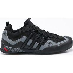 Adidas Performance - Buty Terrex Swift Solo. Czarne buty trekkingowe męskie marki adidas Performance, z materiału, na sznurówki, outdoorowe. Za 399,90 zł.