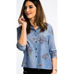 Bawełniana Koszula w Kolorze Jeansu 21187. Szare koszule jeansowe damskie Fasardi, l. Za 61,00 zł.