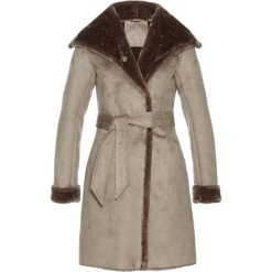 Płaszcze damskie: Płaszcz ze sztucznej skóry bonprix kamienisty