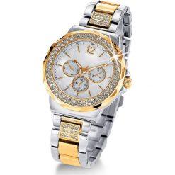 """Zegarek na rękę """"Tiara"""" bonprix srebrno-złoty. Szare zegarki damskie bonprix, złote. Za 109,99 zł."""