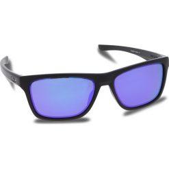 Okulary przeciwsłoneczne OAKLEY - Holston OO9334-0958 Matte Black/Violet Iridium. Czarne okulary przeciwsłoneczne męskie aviatory Oakley, z tworzywa sztucznego. W wyprzedaży za 449,00 zł.