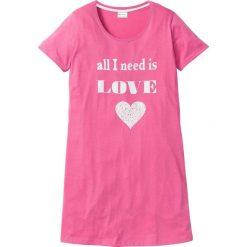 Koszula nocna bonprix matowy różowy - biały z nadrukiem. Czerwone koszule nocne i halki marki DOMYOS, z elastanu. Za 24,99 zł.