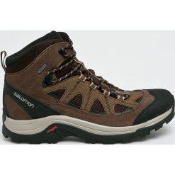 Salomon - Buty Authentic Ltr GTX. Szare buty trekkingowe męskie marki Salomon, z gore-texu, na sznurówki, outdoorowe, gore-tex. W wyprzedaży za 499,90 zł.