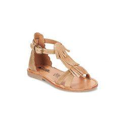 Sandały Dziecko  Citrouille et Compagnie  GAMELA. Brązowe sandały dziewczęce marki Primigi, z materiału. Za 169,00 zł.