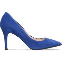 Czółenka SAVONA. Niebieskie buty ślubne damskie Gino Rossi, ze skóry, na szpilce. Za 179,90 zł.