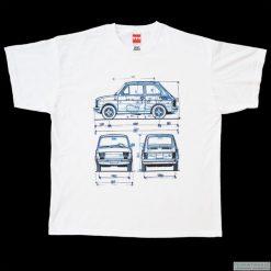 Koszulka MALUCH X 3 - FIAT 126. Czarne bluzki z odkrytymi ramionami marki Pakamera, m, z kapturem. Za 77,00 zł.