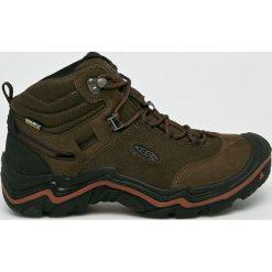 Keen - Buty Wanderer Mid. Brązowe buty trekkingowe męskie marki Keen, z materiału, na sznurówki, outdoorowe. Za 679,90 zł.
