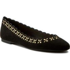 Baleriny MICHAEL MICHAEL KORS - Alexis Ballet 40R7AXFP1S Black. Czarne baleriny damskie zamszowe marki MICHAEL Michael Kors, na płaskiej podeszwie. W wyprzedaży za 459,00 zł.
