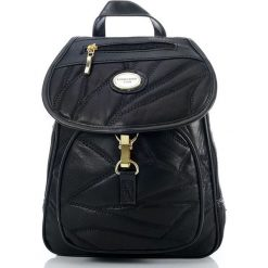 Elegancki skórzany plecak damski. Czarne plecaki damskie EuroLeder, z nylonu, eleganckie. Za 139,00 zł.