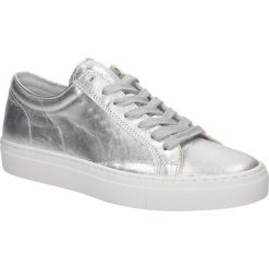 Srebrne buty sportowe skórzane sznurowane Creator S-1872A. Czarne buty sportowe damskie marki Casu. Za 199,99 zł.