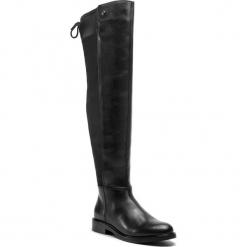 Muszkieterki TRUSSARDI JEANS - 79A00273 K299. Czarne buty zimowe damskie Trussardi Jeans, z jeansu, przed kolano, na wysokim obcasie, na obcasie. Za 979,00 zł.