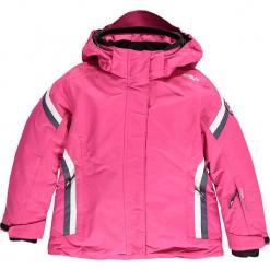 Kurtka narciarska w kolorze różowym. Czerwone kurtki dziewczęce przeciwdeszczowe marki Reserved, z kapturem. W wyprzedaży za 207,95 zł.