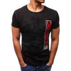 T-shirty męskie z nadrukiem: T-shirt męski z nadrukiem czarny (rx2737)