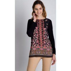 Tuniki damskie eleganckie: Wzorzysta tunika z długim rękawem BIALCON