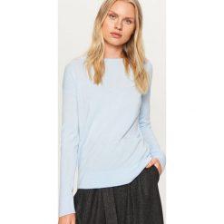 Sweter z wiązaniem z tyłu - Niebieski. Niebieskie swetry klasyczne damskie Reserved, l. Za 49,99 zł.
