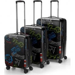 """Walizki (3 szt.)""""Stamps"""" w kolorze czarnym. Czarne walizki marki Reisenthel, z materiału. W wyprzedaży za 1228,95 zł."""