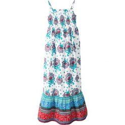 Sukienki dziewczęce: Letnia sukienka bonprix biały z nadrukiem