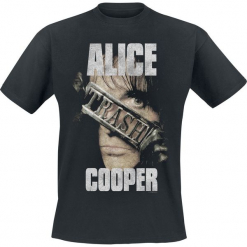 Alice Cooper Trash Buckle Photo T-Shirt czarny. Czarne t-shirty męskie Alice Cooper, l. Za 74,90 zł.