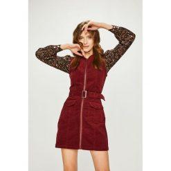 Answear - Sukienka. Szare sukienki dzianinowe marki ANSWEAR, na co dzień, l, w paski, casualowe, mini, dopasowane. W wyprzedaży za 139,90 zł.