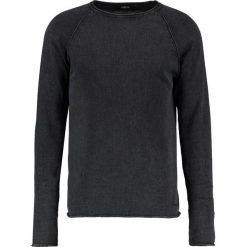 Swetry klasyczne męskie: Solid MALVIN  Sweter black