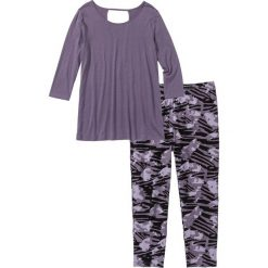 Piżamy damskie: Piżama z legginsami 3/4 bonprix lila z nadrukiem