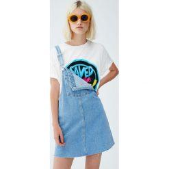 "Koszulka ""Saved by the Bell"". Szare t-shirty damskie Pull&Bear. Za 59,90 zł."