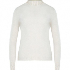 Kremowy Sweter Rashness. Białe swetry klasyczne damskie Born2be, na jesień, m. Za 59,99 zł.