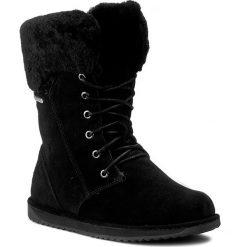 Śniegowce EMU AUSTRALIA - Shoreline W11249 Black. Czarne buty zimowe damskie marki EMU Australia, ze skóry. Za 859,00 zł.