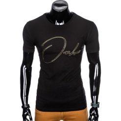 T-SHIRT MĘSKI Z NADRUKIEM S989 - CZARNY. Czarne t-shirty męskie z nadrukiem Ombre Clothing, m. Za 29,00 zł.