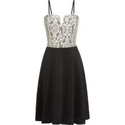 Sukienki hiszpanki: Krótka sukienka bonprix czarno-kremowy