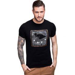 T-shirt NICODEMO TSCS000022. Czarne t-shirty męskie Giacomo Conti, m, z aplikacjami, z bawełny. Za 79,00 zł.