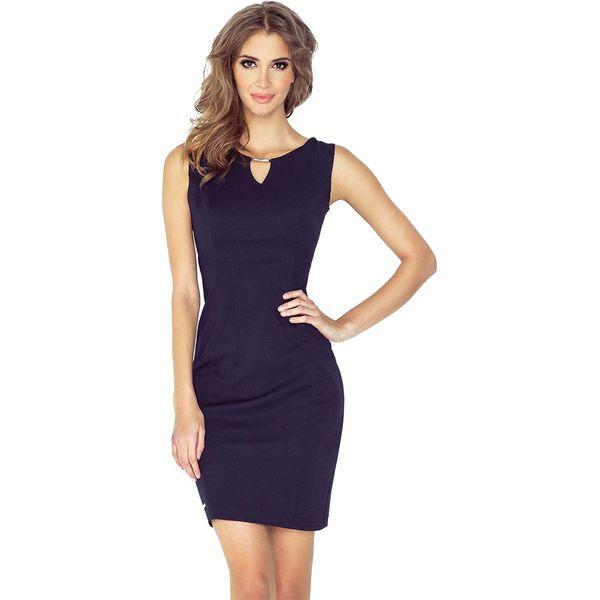 d6cffd4788 Granatowa Ołówkowa Mini Sukienka z Klamerką - Niebieskie sukienki ...