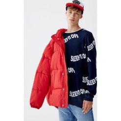 Sweter z napisami. Zielone swetry klasyczne męskie Pull&Bear, m, z napisami. Za 89,90 zł.