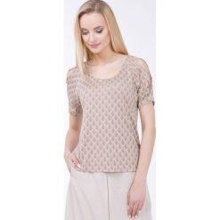 Bluzki asymetryczne: Wzorzysta bluzka z wiązaniem na ramionach