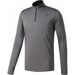 Koszulki sportowe męskie: Adidas Koszulka biegowa Response 1/2 Zip Long Sleeve Tee szara r. S