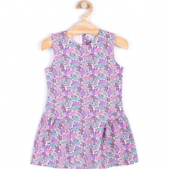 Sukienka. Fioletowe sukienki dziewczęce z falbanami PENGUIN, z bawełny, bez rękawów. Za 29,90 zł.