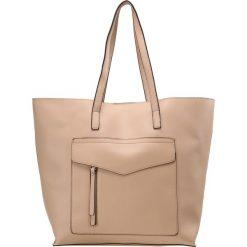 New Look SABRINA Torba na zakupy oatmeal. Czarne shopper bag damskie marki New Look, z materiału, na obcasie. Za 129,00 zł.
