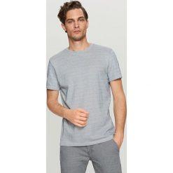 T-shirty męskie: T-shirt z mikrowzorem – Turkusowy