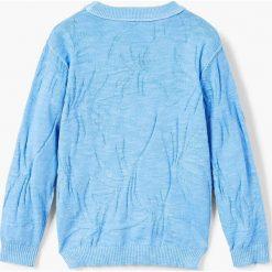 Mango Kids - Sweter dziecięcy Sea 110-164 cm. Szare swetry chłopięce marki bonprix, m, melanż, z dzianiny, z kontrastowym kołnierzykiem. W wyprzedaży za 49,90 zł.