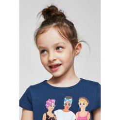Mango Kids - Top dziecięcy Rad 110-164 cm. Szare bluzki dziewczęce marki bonprix, m, melanż, z dzianiny, z kontrastowym kołnierzykiem. Za 29,90 zł.