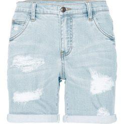 """Szorty dżinsowe bonprix jasnoniebieski """"bleached"""". Niebieskie bermudy damskie bonprix, z jeansu. Za 109,99 zł."""