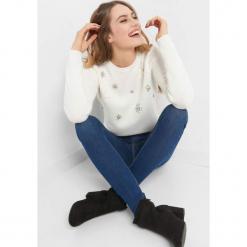 Sweter z aplikacją 3D. Brązowe swetry klasyczne damskie marki Orsay, s, z dzianiny. Za 119,99 zł.