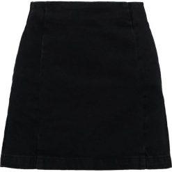Spódniczki trapezowe: Topshop Petite SEAM Spódnica trapezowa washed black