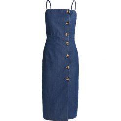 Sukienki hiszpanki: Topshop HORN BUTTON MIDI DRESS Sukienka jeansowa blue denim
