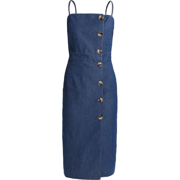 b46fe28515 Topshop HORN BUTTON MIDI DRESS Sukienka jeansowa blue denim ...