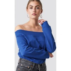 Rut&Circle Bluza z odkrytymi ramionami - Blue. Czerwone długie bluzy damskie marki KALENJI, z elastanu, z krótkim rękawem. Za 80,95 zł.