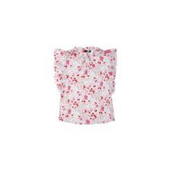 Bluzka klasyczna W KWIATKI. Szare bluzki na imprezę TXM, w kwiaty, klasyczne, z klasycznym kołnierzykiem. Za 19,99 zł.