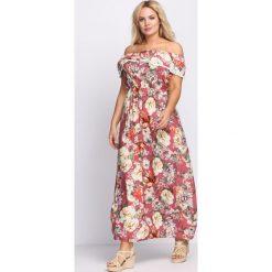 Różowa Sukienka Jelly Beans. Czerwone sukienki hiszpanki Born2be, na lato, l, oversize. Za 49,99 zł.
